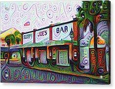 Key West Florida Sloppy Joes Bar Acrylic Print by Bill Cannon