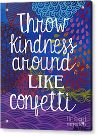 Acrylic Print featuring the painting Kindness by Carla Bank