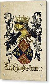 King Of England Coat Of Arms - Livro Do Armeiro-mor Acrylic Print by Serge Averbukh