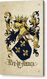 King Of France Coat Of Arms - Livro Do Armeiro-mor  Acrylic Print by Serge Averbukh