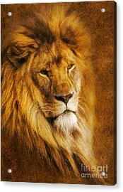 Acrylic Print featuring the digital art King Of The Beasts by Ian Mitchell