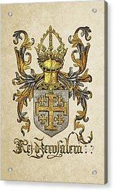 Kingdom Of Jerusalem Coat Of Arms - Livro Do Armeiro-mor Acrylic Print by Serge Averbukh