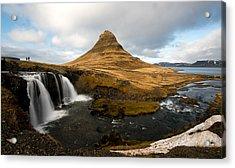 Acrylic Print featuring the photograph Kirkjufellsfoss Waterfalls by Michalakis Ppalis