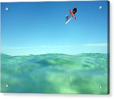 Kitesurfing Acrylic Print by Stelios Kleanthous