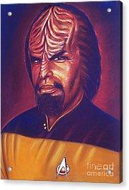 Klingon Star Trek Acrylic Print by Anastasis  Anastasi