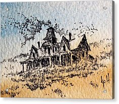 Knippenberg Mansion Glendale Ghost Town Montana Acrylic Print by Kevin Heaney