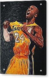 Kobe Bryant Acrylic Print by Taylan Apukovska