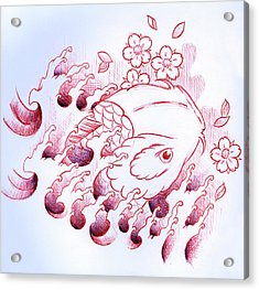 Koi Carp Tattoo Art Acrylic Print