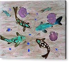 Koi Fish Feng Shui Acrylic Print