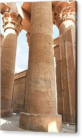 Acrylic Print featuring the photograph Kom Ombo Temple by Silvia Bruno