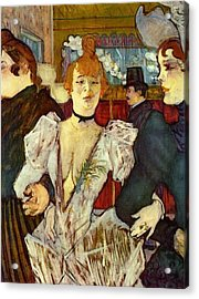 La Goulue Arriving At The Moulin Rouge With Two Women Acrylic Print