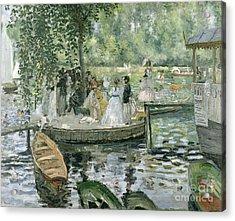 La Grenouillere Acrylic Print by Pierre Auguste Renoir