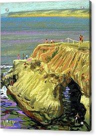 La Jolla Swimmers  Acrylic Print by Donald Maier