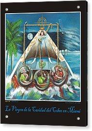 La Virgen De La Caridad Del Cobre En Miami Acrylic Print