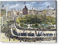 Labor Day Parade, 1882 Acrylic Print