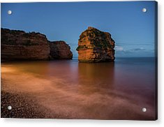 Ladram Bay In Devon Acrylic Print