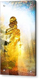 Lady Autumn Acrylic Print