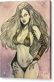 Lady Death  Acrylic Print