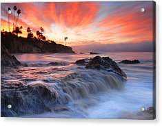 Laguna Beach Sunrise Acrylic Print by Dung Ma