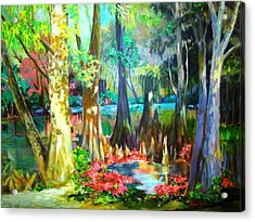Acrylic Print featuring the painting Lake Arthur Swamp by AnnE Dentler