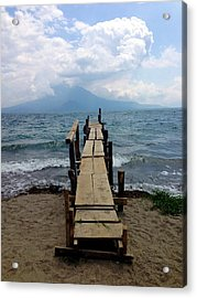 Lake Atitlan Dock Acrylic Print