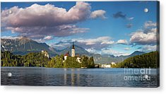 Acrylic Print featuring the photograph Lake Bled Panoramic by Brian Jannsen