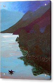 Lake By The Mountains Acrylic Print