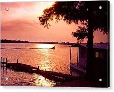 Lake Chicot Sunset Acrylic Print by John Foote