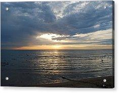 Lake Erie Sunrise Acrylic Print by Peter  McIntosh