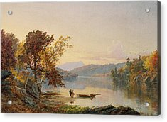 Lake George Acrylic Print by Jasper Francis Cropsey