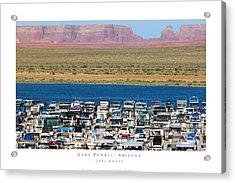 Lake Powell Arizona Acrylic Print by Carl Amoth