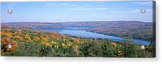 Lake Surrounded By Hills, Keuka Lake Acrylic Print