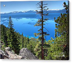 Lake Tahoe From Flume Trail Over Sand Harbor State Park Acrylic Print