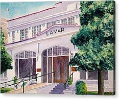 Lamar Bathhouse Acrylic Print by John Keller