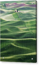 Acrylic Print featuring the photograph Land Waves by Ryan Manuel