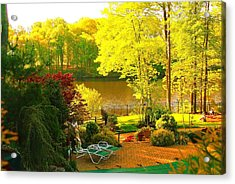 Landscaped Grounds Acrylic Print