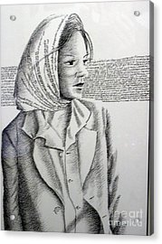 Language Of Cloth Acrylic Print by Tanni Koens
