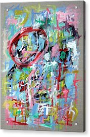 Large Abstract No 5 Acrylic Print by Michael Henderson