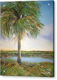 Large Palm Acrylic Print by Michele Hollister - for Nancy Asbell