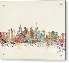 Las Vegas Skyline Acrylic Print by Bri B