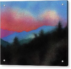 Last Light At Red Box Junction Acrylic Print by Robin Street-Morris