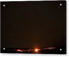 Lava And Stars In Hawaii Acrylic Print by Fredrik Schenholm