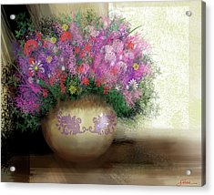 Lavender Bouquet Acrylic Print by Harold Shull