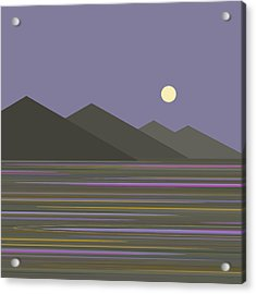 Acrylic Print featuring the digital art Lavender Sky  Reflections by Val Arie