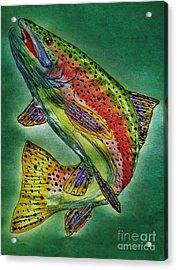 Leaping Trout Acrylic Print by Scott D Van Osdol