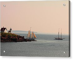 Leaving Camden Harbor Acrylic Print