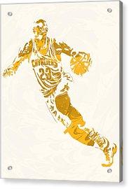 Lebron James Cleveland Cavaliers Pixel Art 10 Acrylic Print