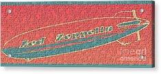 Led Zeppelin Acrylic Print by RJ Aguilar