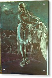 Leda And The Swan Acrylic Print by Michele D B