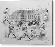 Legend Of Yankees Acrylic Print by Mei  He